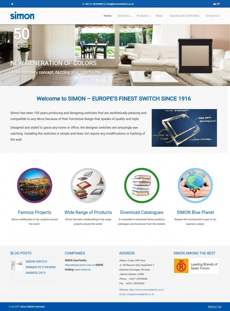 PT. Simon Elektrik Indonesia Homepage