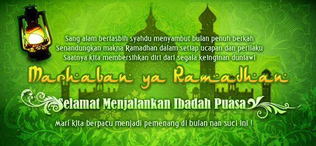 penanda datangnya bulan ramadhan