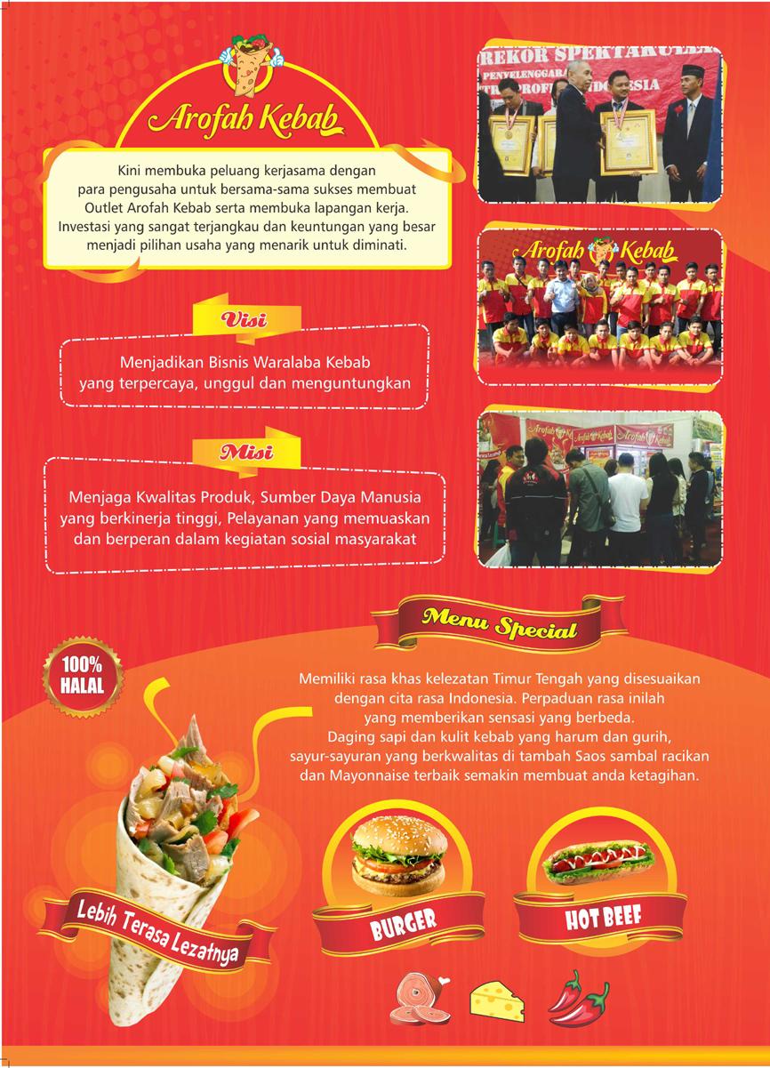 Brosur Franchise Waralaba Kebab Turki Arofah