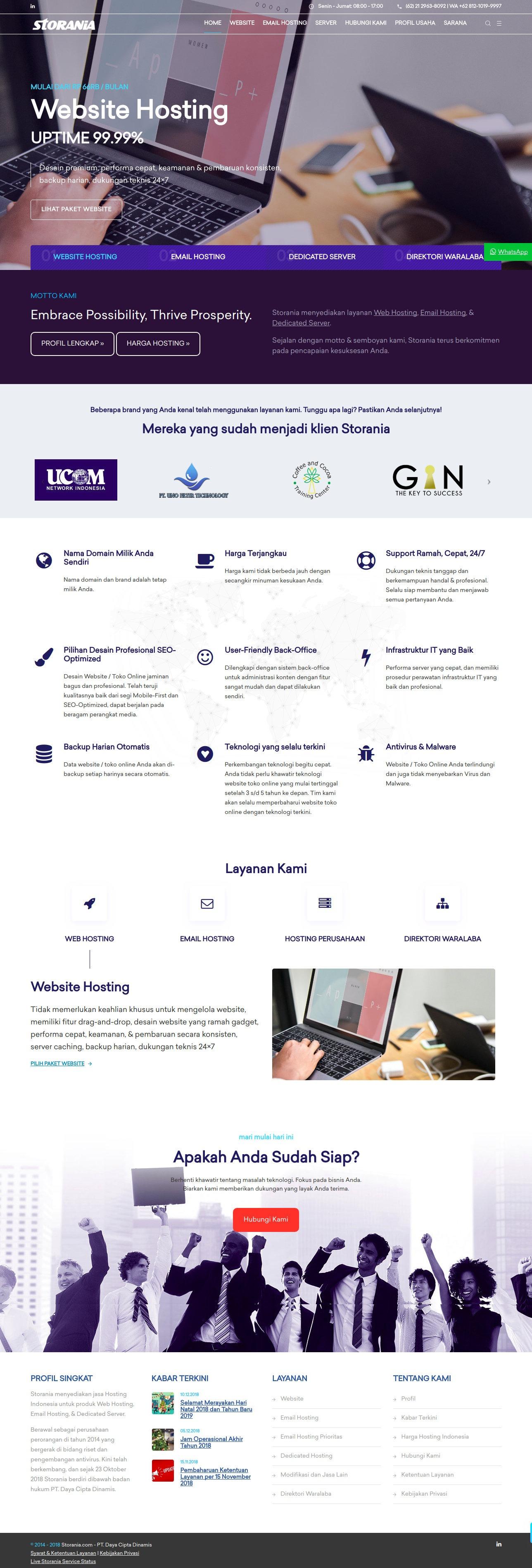 Desain Web Storania Oktober 2018