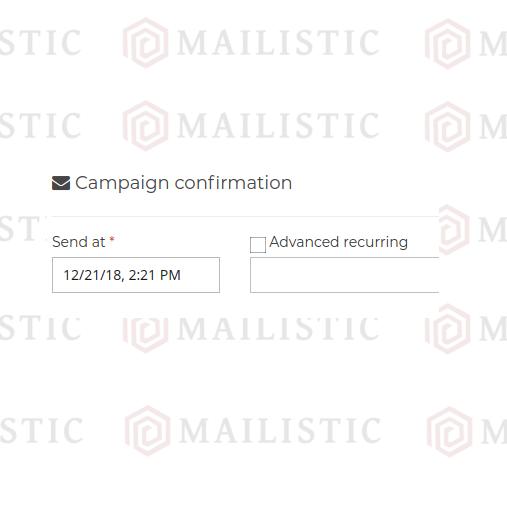 Mailistic Jadwalkan atau Kirim Sekarang