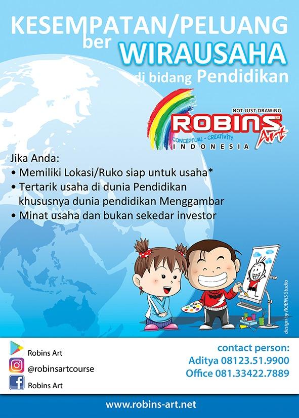 Flyer Waralaba Frachise Robins Art Gambar Anime, Manga, US