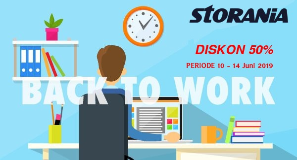 Diskon Back to Work 50% Periode 10 - 14 Juni 2019